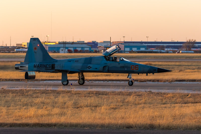 """-(Aircraft) Northrop F-5N Tiger II <br /> -(Nation & Service) United States Marine Corps<br /> -(Squadron) Marine Fighter Training Squadron 401 """"Snipers""""<br /> -(Home Base) Marine Corps Air Station Yuma, Arizona"""
