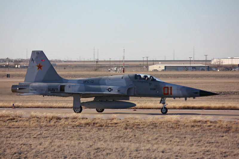 "-(Aircraft) Northrop F-5E Tiger II<br /> -(Nation & Service) United States Navy<br /> -(Squadron) Fighter Squadron Composite 13 ""Saints""<br /> -(Home Base) Naval Air Station Fallon, Nevada"