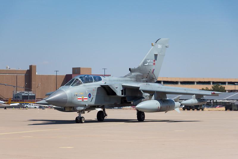 -(Aircraft) Panavia GR4 Tornado<br /> -(Nation & Service) United Kingdom Royal Air Force<br /> -(Squadron) No. 41 (R) Squadron <br /> -(Home Base) Royal Air Force Coningsby, Lincolnshire, United Kingdom