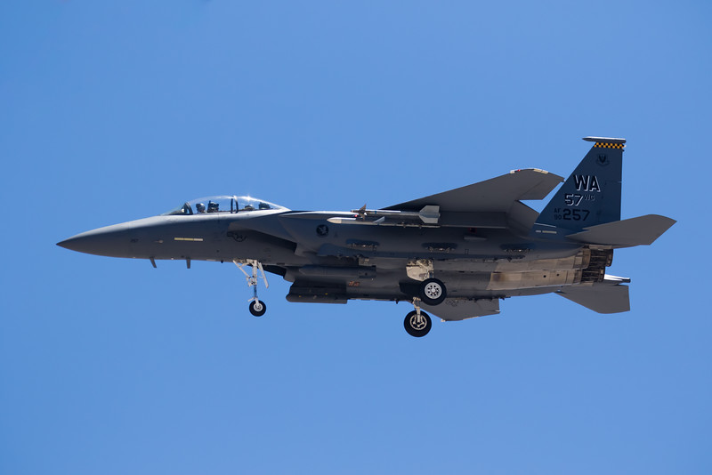 "-(Aircraft) Boeing F-15E Strike Eagle<br /> -(Nation & Service) United States Air Force<br /> -(Squadron) 17th Weapons Squadron ""Hooters""<br /> -(Home Base) Nellis Air Force Base, Nevada"