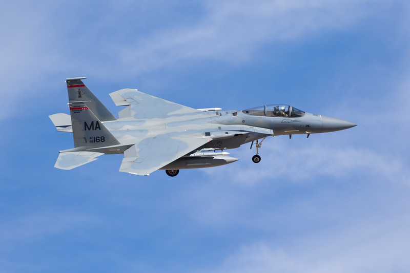 "-(Aircraft) McDonnell Douglas F-15C Eagle<br /> -(Nation & Service) United States Air Force<br /> -(Squadron) 131st Fighter Squadron ""Barnestormers"" <br /> -(Home Base) Barnes Air National Guard Base, Massachusetts"