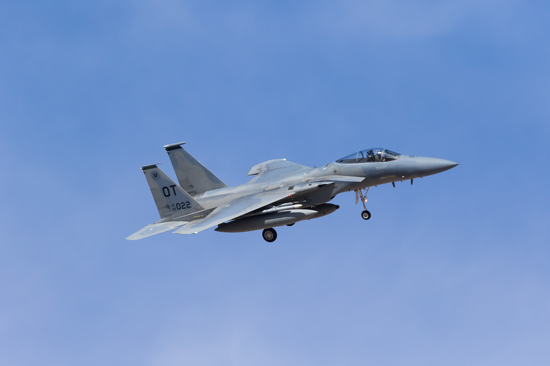 "-(Aircraft) McDonnell Douglas F-15C Eagle<br /> -(Nation & Service) United States Air Force<br /> -(Squadron) 422nd Test & Evaluation Squadron ""Green Bats""<br /> -(Home Base) Nellis Air Force Base, Nevada"