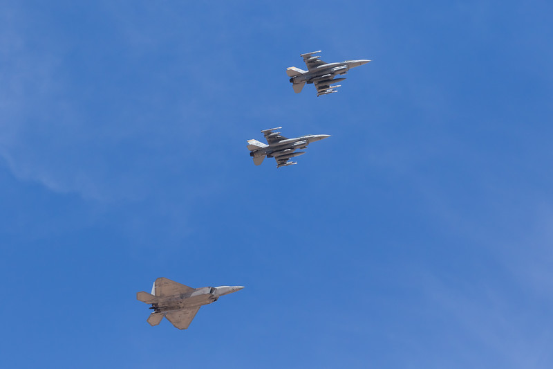 "-(Aircraft) General Dynamics F-16D Fighting Falcon & Lockheed Martin F-22A Raptor<br /> -(Nation & Service) United States Air Force<br /> -(Squadron) 16th Weapons Squadron ""Tomahawks"" & 433rd Weapons Squadron ""Satan's Angels"" <br /> -(Home Base) Nellis Air Force Base, Nevada"