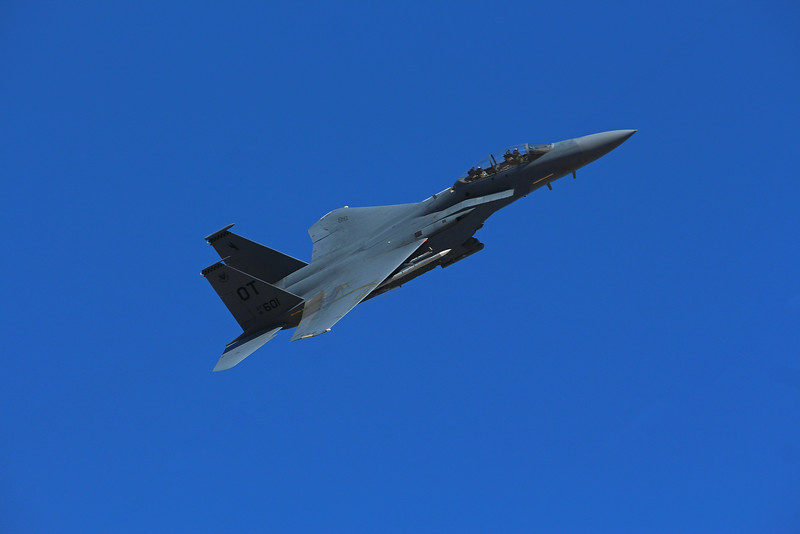 """-(Aircraft) Boeing F-15E Strike Eagle<br /> -(Nation & Service) United States Air Force<br /> -(Squadron) 422nd Test and Evaluation Squadron """"Green Bats""""<br /> -(Home Base) Nellis Air Force Base, Nevada"""