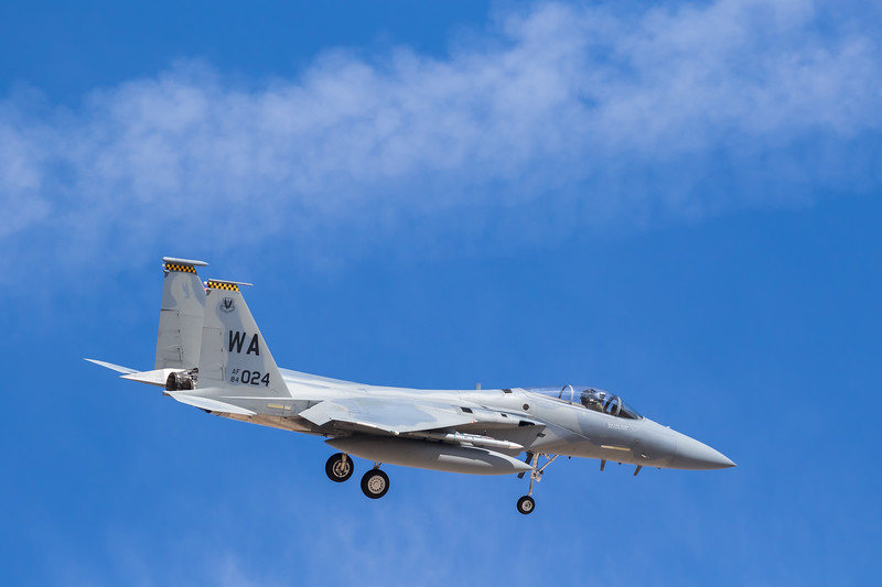 "-(Aircraft) McDonnell Douglas F-15C Eagle<br /> -(Nation & Service) United States Air Force<br /> -(Squadron) 433rd Weapons Squadron ""Satan's Angels""<br /> -(Home Base) Nellis Air Force Base, Nevada"
