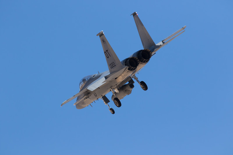 "-(Aircraft) Boeing F-15C Eagle<br /> -(Nation & Service) United States Air Force<br /> -(Squadron) 422nd Test and Evaluation Squadron ""Green Bats""<br /> -(Home Base) Nellis Air Force Base, Nevada"