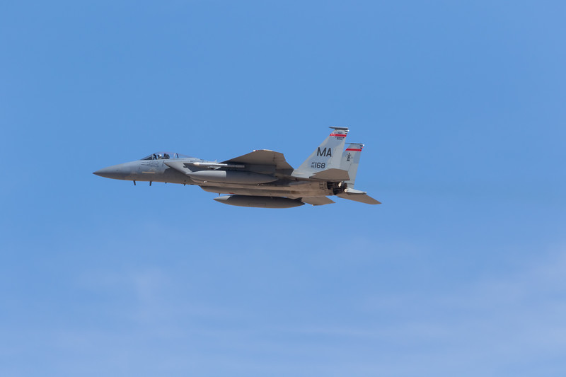 """-(Aircraft) McDonnell Douglas F-15C Eagle<br /> -(Nation & Service) United States Air Force<br /> -(Squadron) 131st Fighter Squadron """"Barnestormers"""" <br /> -(Home Base) Barnes Air National Guard Base, Massachusetts"""