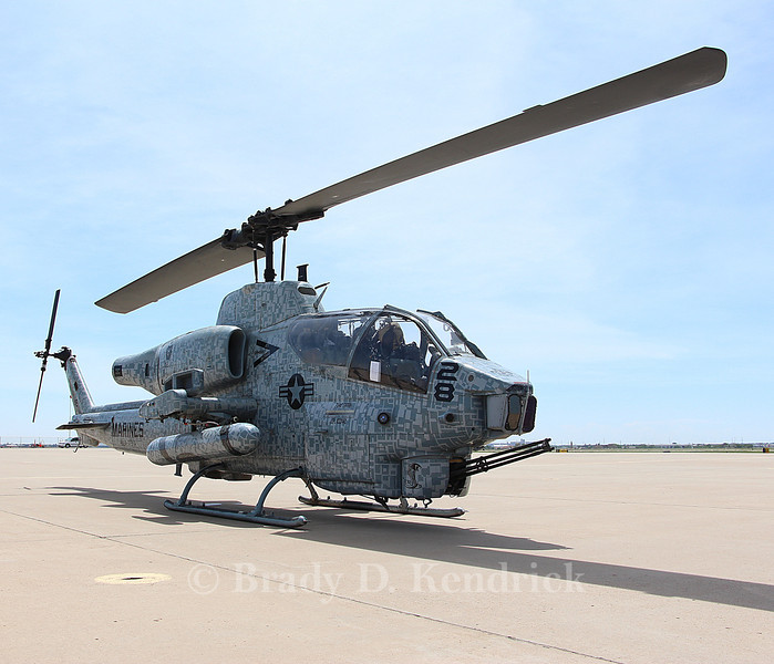 "-(Aircraft) Bell AH-1W SuperCobra<br /> -(Nation & Service) United States Marine Corps<br /> -(Squadron) Marine Light Attack Helicopter Squadron 773 Det. A ""Red Dogs""<br /> -(Home Base) Naval Air Station Joint Reserve Base New Orleans, Louisiana"