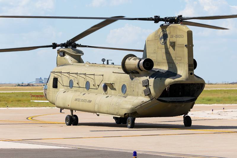 "-(Aircraft) Boeing CH-47F Chinook<br /> -(Nation & Service) United States Army<br /> -(Squadron) Combat Aviation Brigade, 101st Airborne Division, 6th Battalion, 101st Aviation Regiment, B Company ""Pachyderms""<br /> -(Home Base) Fort Campbell, Kentucky"