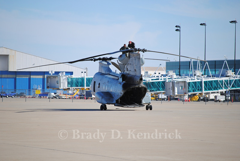 "-(Aircraft) Boeing Vertol CH-46E Sea Knight<br /> -(Nation & Service) United State Marine Corps<br /> -(Squadron) Marine Medium Helicopter Training Squadron 164 ""Knightriders"" <br /> -(Home Base) Marine Corps Air Station Camp Pendleton, California"