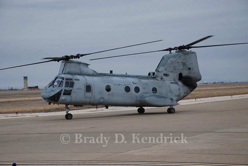 Unit:  HMX-1 'Nighthawks' of Marine Corps Air Facility Quantico, Virginia<br /> <br /> Aircraft Type:  Boeing Vertol CH-46E Sea Knight<br /> <br /> Photo Location:  Rick Husband International Airport in Amarillo, Texas