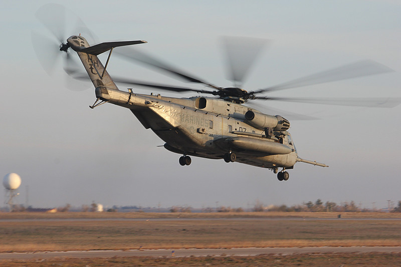"-(Aircraft) Sikorsky CH-53E Super Stallion <br /> -(Nation & Service) United States Marine Corps<br /> -(Squadron) Marine Heavy Helicopter Squadron 366 ""Hammerheads"" <br /> -(Home Base) Marine Corps Air Station New River, North Carolina"
