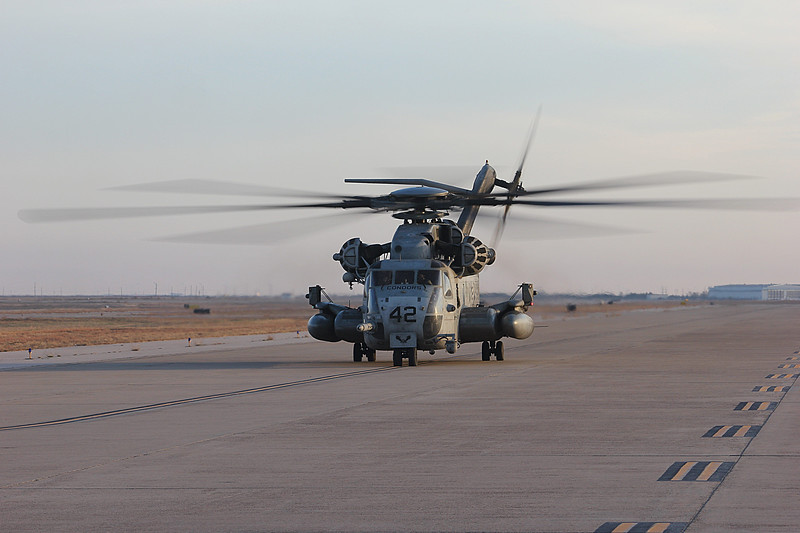 "-(Aircraft) Sikorsky CH-53E Super Stallion <br /> -(Nation & Service) United States Marine Corps<br /> -(Squadron) Marine Heavy Helicopter Squadron 464 ""Condors""<br /> -(Home Base) Marine Corps Air Station New River, North Carolina"