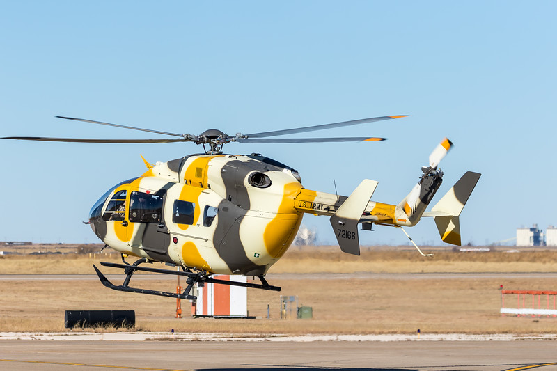 "-(Aircraft) Eurocopter UH-72A Lakota<br /> -(Nation & Service) United States Army<br /> -(Squadron) B Company, 2916th Aviation Battalion,  916th Support Brigade ""Raptors"" <br /> -(Home Base) Barstow-Daggett Airport, California"