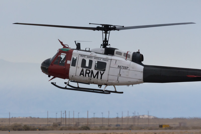 -(Aircraft) Bell UH-1 Iroquois<br /> -(Nation & Service) United States Army<br /> -(Squadron) United States Army Test and Evaluation Command<br /> -(Home Base) White Sands Missile Range, New Mexico