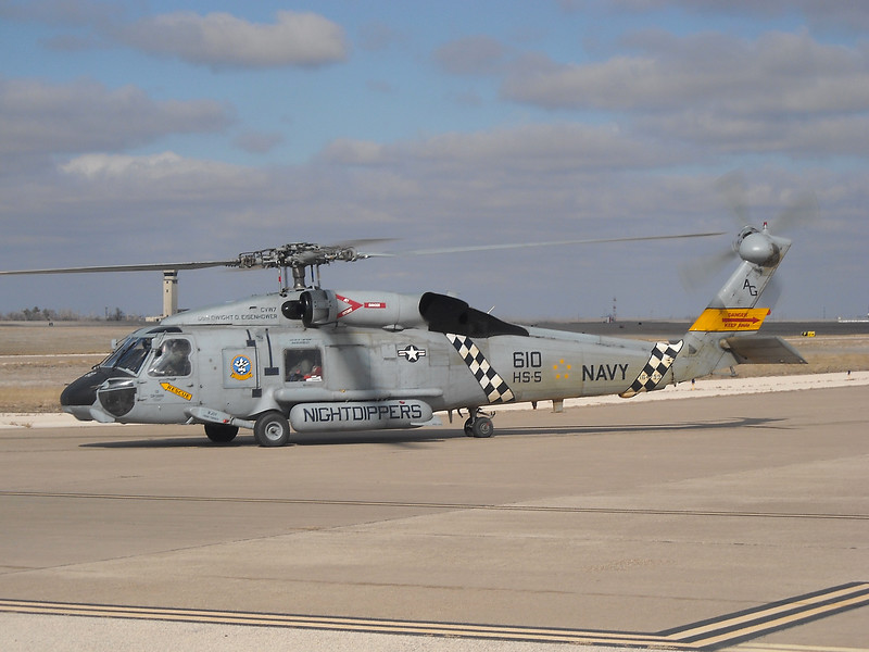 "-(Aircraft) Sikorsky MH-60S Seahawk<br /> -(Nation & Service) United States Navy<br /> -(Squadron) Helicopter Anti-Submarine Squadron 5 ""Nightdippers""<br /> -(Home Base) Naval Station Norfolk, Virginia"