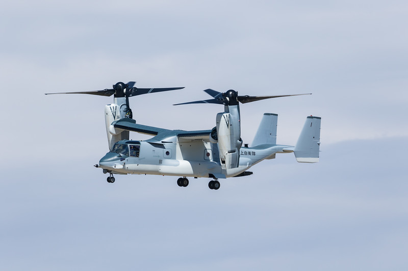 -(Aircraft) Bell-Boeing V-22B Block C Osprey<br /> -(Nation & Service) Japan Ground Self-Defense Force<br /> <br /> -Note - First V-22 sold to a military outside of the United States.  1st of 17 to be sold to Japan.