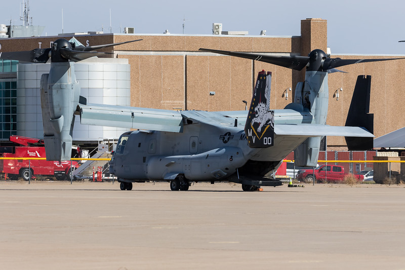 -(Aircraft) Bell-Boeing MV-22B Osprey<br /> -(Nation & Service) United States Marine Corps<br /> -(Squadron) Marine Operational Test and Evaluation Squadron One  <br /> -(Home Base) Marine Corps Air Station Yuma, Arizona