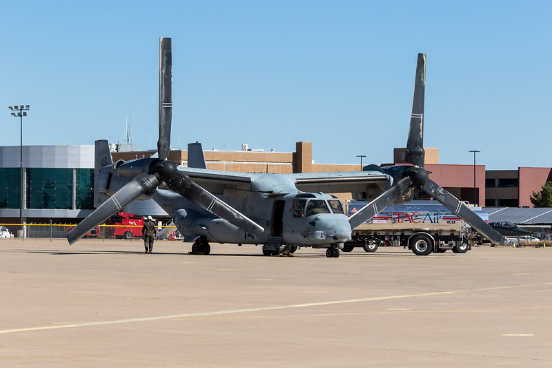 """-(Aircraft) Bell-Boeing MV-22B Osprey<br /> -(Nation & Service) United States Marine Corps<br /> -(Squadron) Marine Medium Tiltrotor Squadron 263 """"Thunder Chickens""""<br /> -(Home Base) Marine Corps Air Station New River, North Carolina"""
