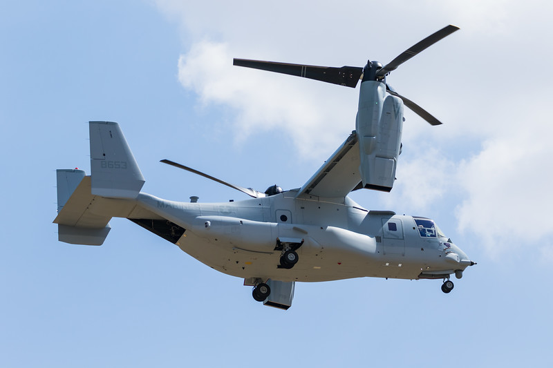 -(Aircraft) Bell-Boeing MV-22B Osprey <br /> -(Nation & Service) United States Marine Corps<br /> -(Squadron)<br /> -(Home Base)<br /> <br /> *Note - 350th V-22 Osprey Built