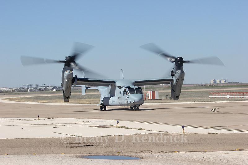 "-(Aircraft) Boeing MV-22B Osprey <br /> -(Nation & Service) United States Marine Corps<br /> -(Squadron) Marine Medium Tiltrotor Squadron 162 ""Golden Eagles""<br /> -(Home Base) Marine Corps Air Station New River, North Carolina"