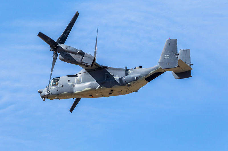"-(Aircraft) Bell-Boeing CV-22B Osprey <br /> -(Nation & Service) United States Air Force<br /> -(Squadron) 20th Special Operations Squadron ""Green Hornets""<br /> -(Home Base) Cannon Air Force Base, New Mexico"