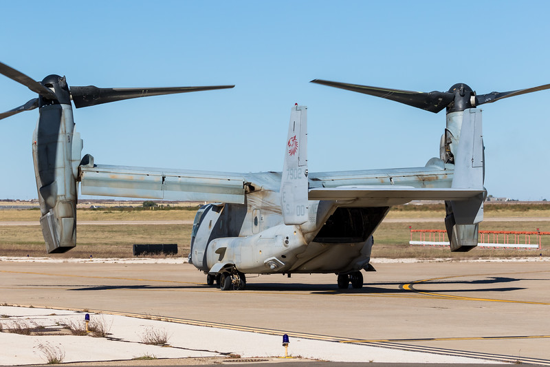 "-(Aircraft) Bell-Boeing MV-22B Osprey<br /> -(Nation & Service) United States Marine Corps<br /> -(Squadron) Marine Medium Tiltrotor Squadron 266 ""Fighting Griffins""<br /> -(Home Base) Marine Corps Air Station New River, North Carolina"