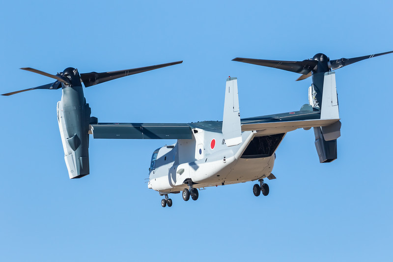 -(Aircraft) Bell-Boeing V-22B Block C Osprey<br /> -(Nation & Service) Japan Ground Self-Defense Force<br /> <br /> -Note - Second V-22 sold to a military outside of the United States.  2nd of 17 to be sold to Japan.