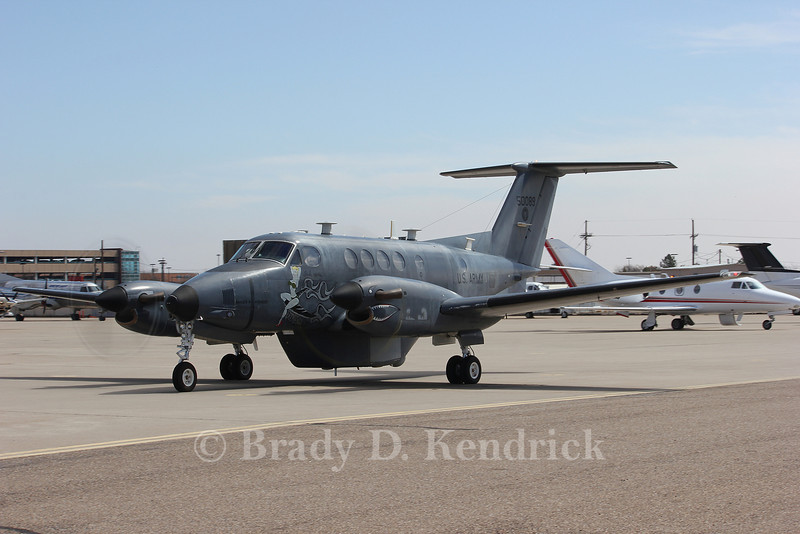 -(Aircraft) Beechcraft RC-12D Horned Owl <br /> -(Nation & Service) United States Army<br /> -(Squadron) 339th Military Intelligence Company<br /> -(Home Base) Naval Air Station Joint Reserve Base Fort Worth, Texas