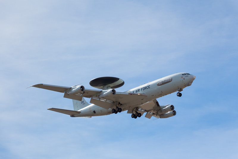 -(Aircraft) Boeing E-3B Sentry <br /> -(Nation & Service) United States Air Force<br /> -(Squadron) 965th Airborne Air Control Squadron<br /> -(Home Base) Tinker Air Force Base, Oklahoma