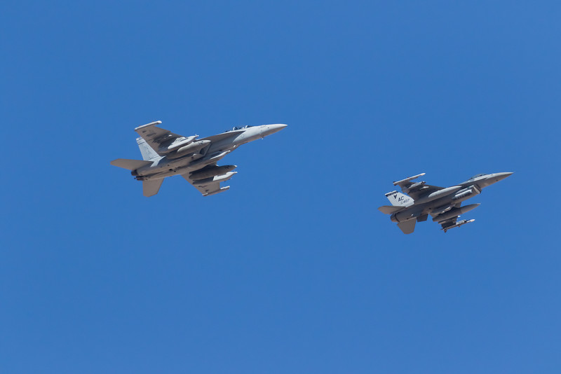 "-(Aircraft) Boeing EA-18G Growler & General Dynamics F-16C Fighting Falcon<br /> -(Nation & Service) United States Navy & United States Air Force<br /> -(Squadrons) Electronic Attack Squadron 139 (VAQ-139) & 119 Fighter Squadron ""Jersey Devils""<br /> -(Home Base)  Naval Air Station Whidbey Island, Washington & Atlantic City Air National Guard Base, New Jersey"
