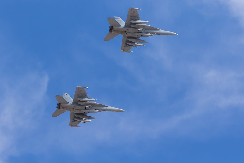 "-(Aircraft) Boeing EA-18G Growler<br /> -(Nation & Service) United States Navy<br /> -(Squadron) Electronic Attack Squadron 140 ""Patriots"" & Electronic Attack Squadron 138 ""Yellow Jackets""<br /> -(Home Base) Naval Air Station Whidbey Island, Washington"