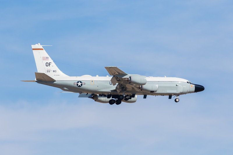 -(Aircraft) Boeing RC-135V/W Rivet Joint<br /> -(Nation & Service) United States Air Force<br /> -(Squadron) 343d Reconnaissance Squadron<br /> -(Home Base) Offutt Air Force Base, Nebraska