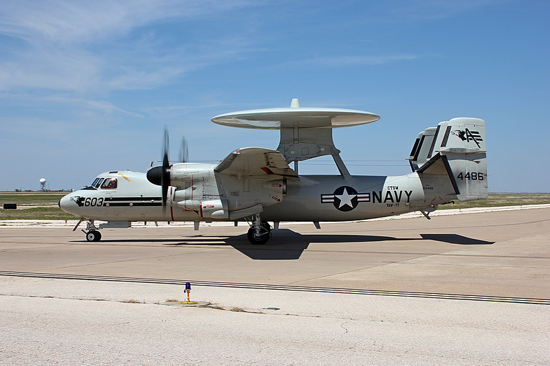 "-(Aircraft) Northrop Grumman E-2D Hawkeye<br /> -(Nation & Service) United States Navy<br /> -(Squadron) Carrier Airborne Early Warning Squadron 77 ""Nightwolves""<br /> -(Home Base) Naval Air Station Joint Reserve Base New Orleans, Louisiana"