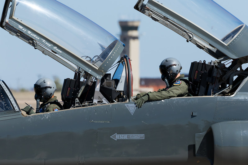 """-(Aircraft) Northrop T-38C Talon<br /> -(Nation & Service) United States Air Force<br /> -(Squadron) 90th Flying Training Squadron """"Boxing Bears""""<br /> -(Home Base) Sheppard Air Force Base, Texas"""
