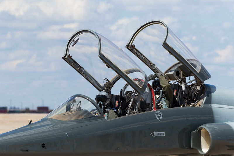"""-(Aircraft) Northrop T-38C Talon<br /> -(Nation & Service) United States Air Force<br /> -(Squadron)  25th Flying Training Squadron """"Shooters:<br /> -(Home Base) Vance Air Force Base, Oklahoma"""