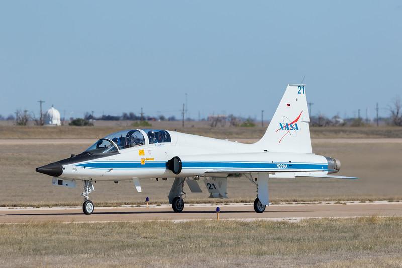 -(Aircraft) Northrup T-38 Talon <br /> -(Nation & Service) United States National Aeronautics and Space Administration