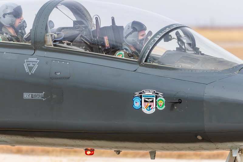 "-(Aircraft) Northrop T-38C Talon<br /> -(Nation & Service) United States Air Force<br /> -(Squadron) 560th Flying Training Squadron ""Chargin' Cheetahs"" <br /> -(Home Base) Randolph Air Force Base, Texas"