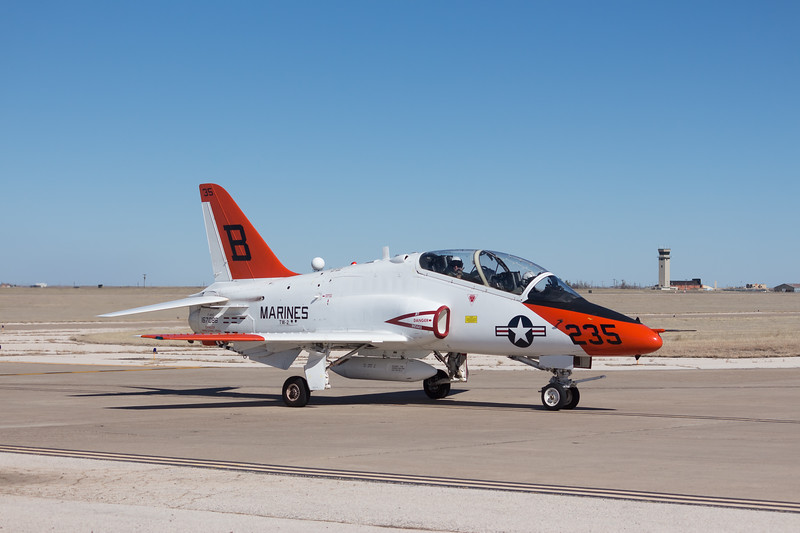 "-(Aircraft) McDonnell Douglas T-45C Goshawk<br /> -(Nation & Service) United States Navy<br /> -(Squadron) Training Squadron 22 ""Golden Eagles""<br /> -(Home Base) Naval Air Station Kingsville, Texas"