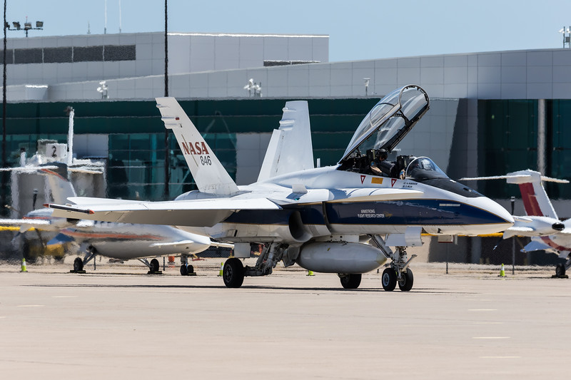 -(Aircraft) McDonnell Douglas F/A-18B Hornet<br /> -(Nation & Service) United States National Aeronautics and Space Administration<br /> -(Operator) Armstrong Flight Research Center<br /> -(Home Base) Edwards Air Force Base, California