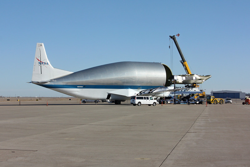 -(Aircraft) Aero Spacelines Super Guppy<br /> -(Nation & Service) United States National Aeronautics and Space Administration