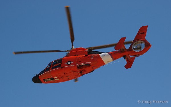 US Coast Guard 6588 based out of Los Angeles is seen at the 2009 Heroes Airshow Los Angeles