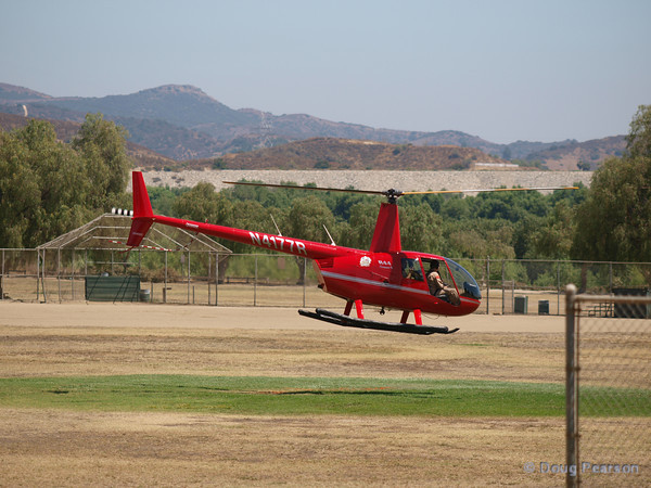 N4177R, a Robinson R44 operates at American Heroes Air Show 2010