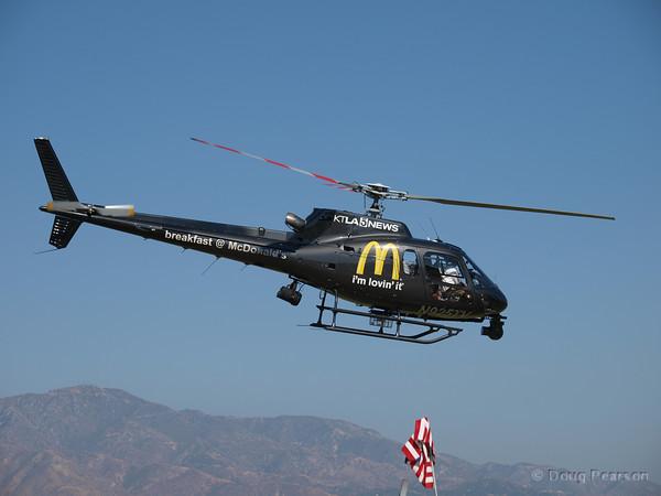 KTLA News Chopper N925TV at Hansen Dam for American Heroes Air Show 2010