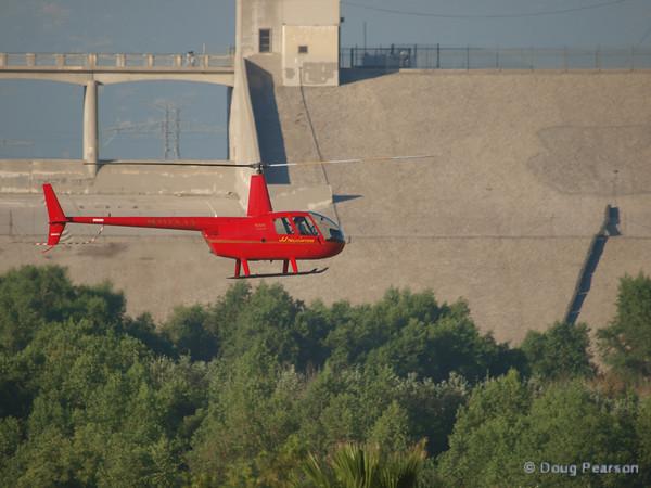 N703JJ a Robinson R44, arriving at Hansen Dam for American Heroes Air Show 2010