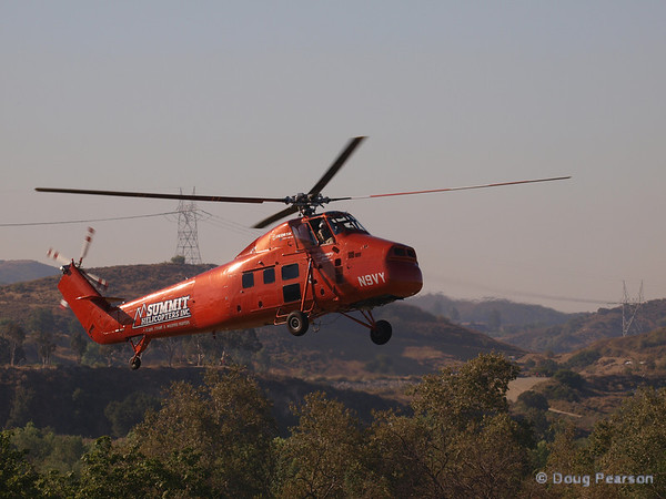 "N9VY, Summit Helicopters ""Flying Mimi"" a Sikorsky S-58DT landing at Hansen Dam for American Heroes Air Show 2012"