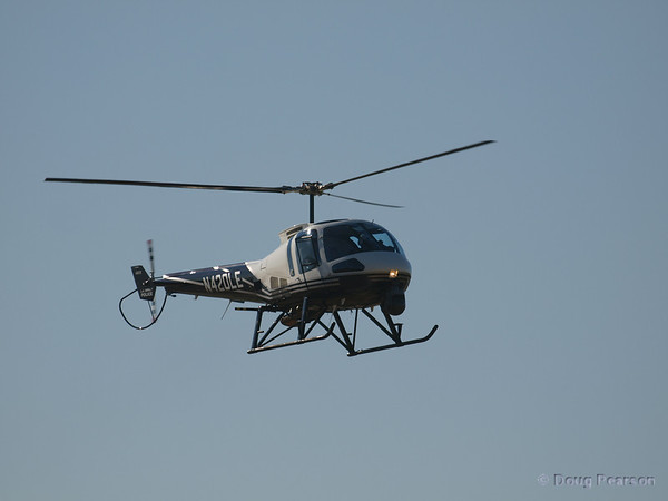 N420LE an Enstrom 480B on approach to Hansen Dam for American Heroes Airshow 2012.