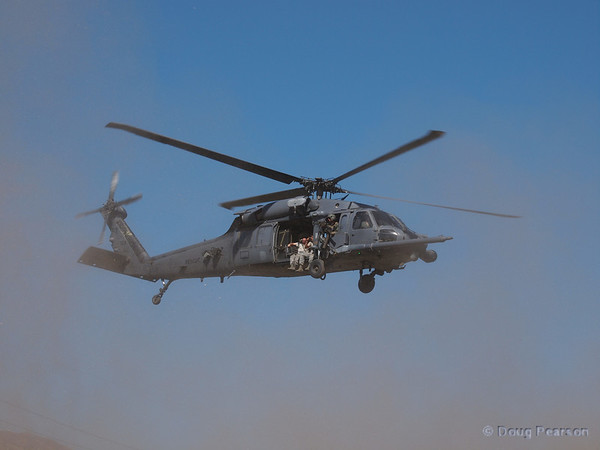 USAF 309 a Sikorsky HH-60G Pave Hawk from 66th Rescue Squadron departs American Heroes Air Show 2012, going home to Nellis AFB, NV, USA.