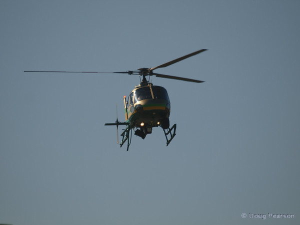 N962LA, a Eurocopter AS 350 B2 used by LA County Sheriff on approach to Hansen Dam for American Heroes Air Show 2012.