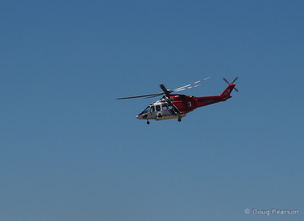 LAFD Fire 3, N303FD, an Agusta Spa AW139 flys over American Heroes Airshow 2012.